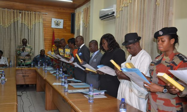 INTERIOR MINISTER SWEARS IN MEMBERS OF THE GNFS COUNCIL
