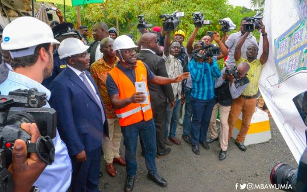VICE PRESIDENT BAWUMIA CUTS SOD FOR POLICE HOUSING PROJECT