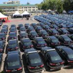 PRESIDENT AKUFO-ADDO PRESENTS 200 VEHICLES TO THE GHANA POLICE SERVICE