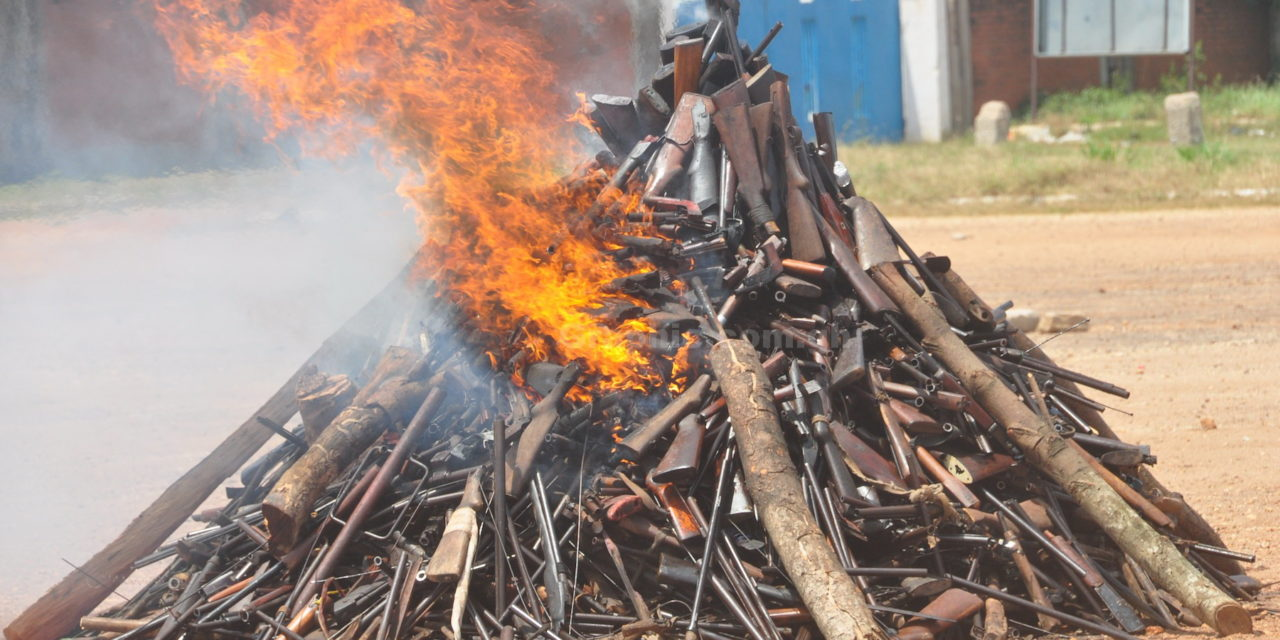 INTENSIFY EFFORT TO COLLECT AND DESTROY SEIZED FIREARMS