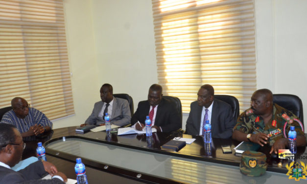 BOARD OF NATIONAL COMMISSION ON SMALL ARMS AND LIGHT WEAPONS (NACSA) CALLS ON MINISTER FOR THE INTERIOR