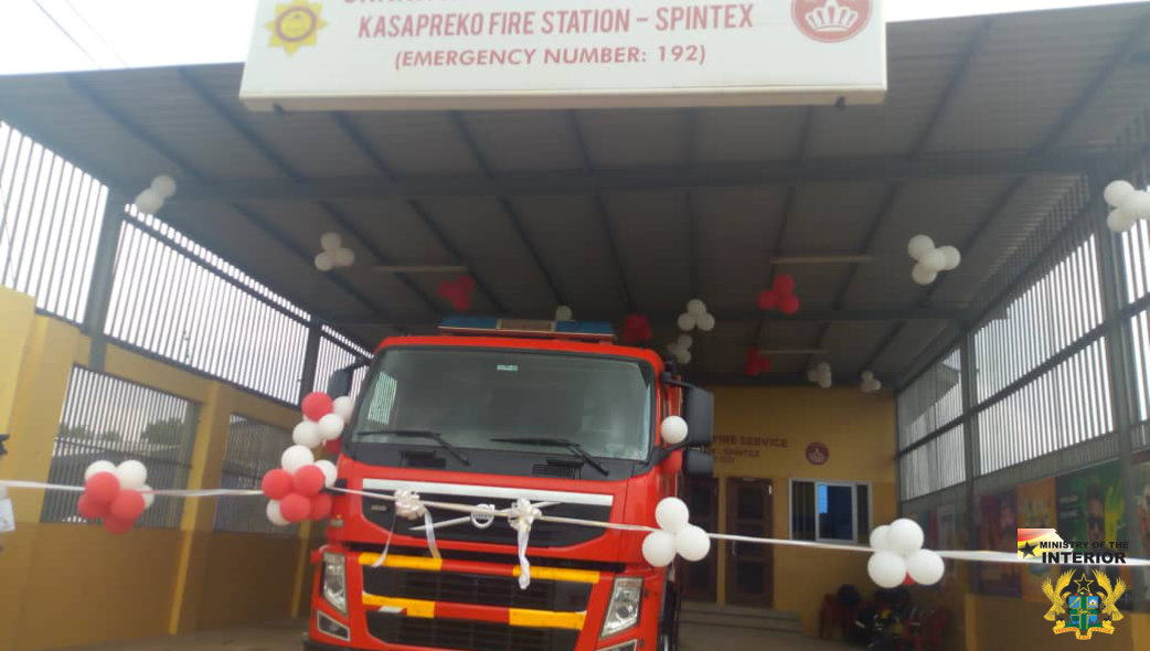 GH₵400,000. 00 KASAPREKO FIRE STATION COMMISSIONED IN ACCRA