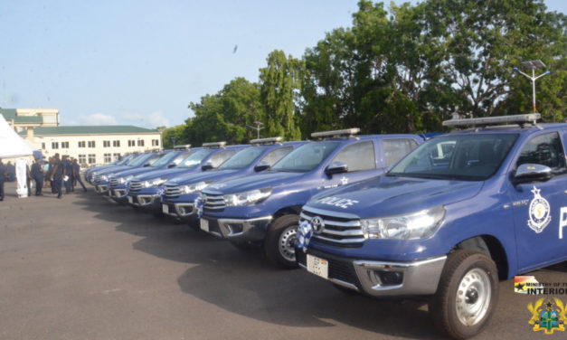 GOVT PRESENTS 64 VEHICLES TO THE GHANA POLICE SERVICE