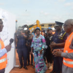 INTERIOR MINISTER CUT'S SOD FOR THE CONSTRUCTION OF HANGAR FOR POLICE HELICOPTERS