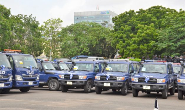VICE PRESIDENT BAWUMIA PRESENTS 109 VEHICLES TO THE POLICE
