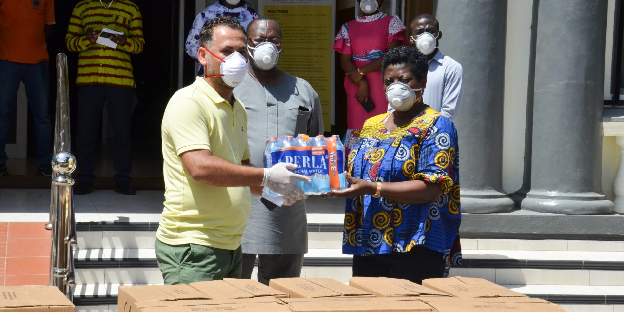 MULTIPAC GHANA LTD. DONATES ITEMS TO THE INTERIOR MINISTRY