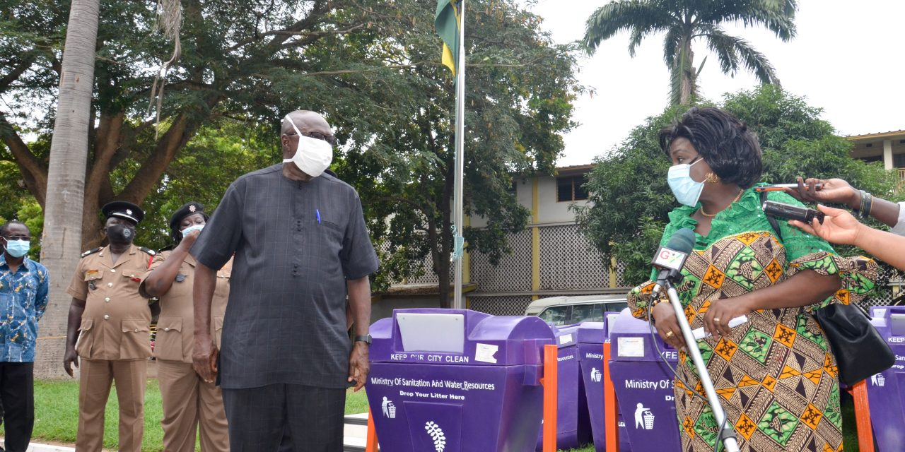 SANITATION MINISTRY DONATES LITTER BINS TO MINISTRY OF THE INTERIOR