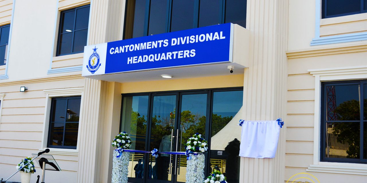 Interior Minister Commissions New Cantonments Police Headquarters