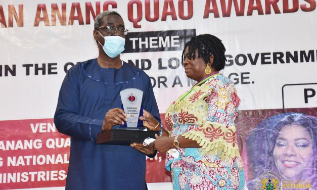 Interior Ministry's Chief Director picks Nathan Quao Award for Leadership