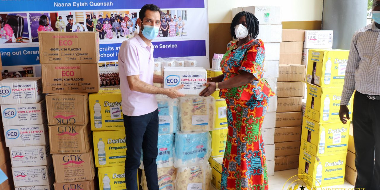 IVO Ghana Limited donates items to Interior Ministry